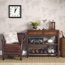 dark wood furniture decorating. Neutral Hallway With Dark Wood Furniture | Decorating Ideal Home Housetohome.co.uk