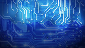 Blue Computer Circuit Board Loop Background Motion Background