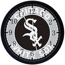 chicago white sox black frame wall clock nice for decor or gifts f64