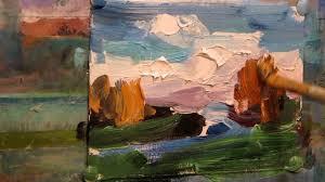 oil painting autumn landscape miniature paintings large brush stroke