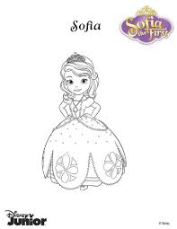 Princess Sofia Coloring Page Color Her