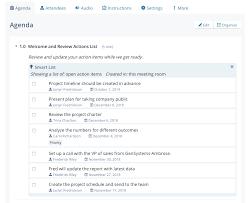 Agenda List Smart Lists Lucid Meetings Support Portal