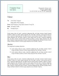 Memo Report Example 15 Example Memorandum Leterformat