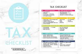 tax preparation checklist excel self employed tax preparation printables instant download