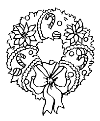 Small Picture Coloring Page Christmas wreath coloring pages 4