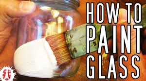 HOW TO Paint On GLASS (Bottles, Pots, Jars, Etc) #Painting #ArtsAndCrafts -  YouTube