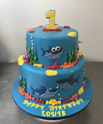 Baby Shark Cake Design Baby Shark Cake Annettes Heavenly Cakes