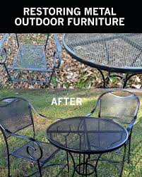 painted metal patio furniture. Amazing Refinishing Outdoor Furniture And Beautiful Restore Metallic  Outside Furnishings To Like New 25 Painted Metal Patio