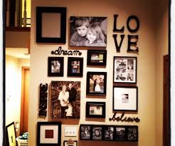 ... Large-size of Scenic Family Photo Display Collage Ideas In Quotes Also  Black Wooden Frame ...