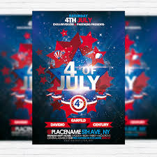 4th Of July Premium Flyer Template Facebook Cover