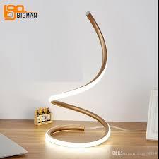 2018 spiral design led table light modern table lamp ac110v 220v multi color booking room desk lights from daisy8814 99 4 dhgate com