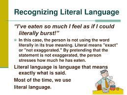 literal language ppt figurative language powerpoint presentation id 5527815