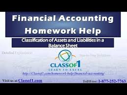 classification of assets and liabilities in a balance sheet  classification of assets and liabilities in a balance sheet homework help by classof1 com