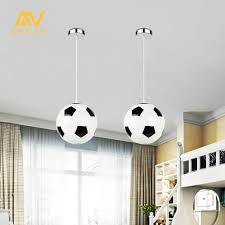 football pendant light for creative children bedroom lights balcony led lamp drop light e27 bedroom lampshade dinner room foyer ceiling pendants modern