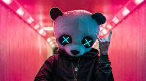 panda, mask, photography, hd, 4k, neon ...