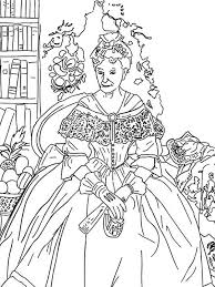 Small Picture The Queen Famous Painting Coloring Pages Batch Coloring