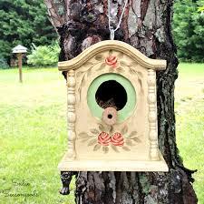 Diy Birdhouse Thrift Store Desk Clock Repurposed Into A Diy Birdhouse For The Yard