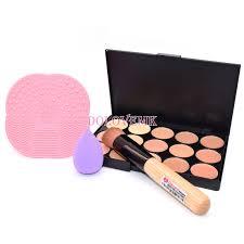details about dolovemk face makeup kit contour palette concealer brush sponge cleansing pad