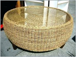 round wicker coffee table wicker coffee table with glass top coffee table rattan rattan ottoman coffee table round wicker r