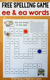 You will find all levels of phonics printable worksheets. Spelling Game For Ee And Ea Words The Measured Mom
