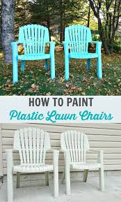 How To Spray Paint Plastic Lawn Chairs Spray Painting Plastic