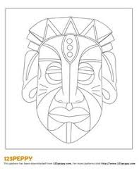 Small Picture Coloring page website with 86 traditional African mask types from