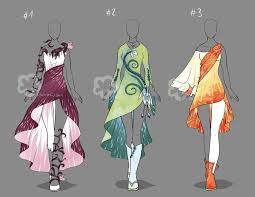 Design Clothes Anime In 2019 Anime Outfits Fantasy Dress Fashion Sketches