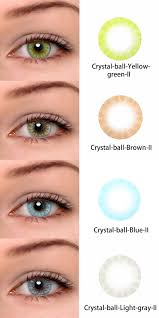 Crystal Light Blue Contacts Crystal Ball Yellow Green Ii Crystal Ball Brown Ii Crystal