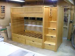 bunk bed with stairs plans. Delighful With Bunk Bed Plans  Bunk Beds With Stairs  By Dshute  LumberJockscom   Woodworking  For Bed With Stairs Plans
