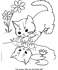 Small Picture Cat Color Pages Printable Cat Coloring Sheets Vintage Cuties Cat