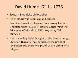 miracles twc ppt video online  13 david hume 1711 1776 scottish empiricist philosopher