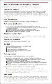 resume order of jobs bank compliance officer cv sample myperfectcv