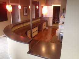 this was the first job nathan completed a precast reception desk for a chiropractic office
