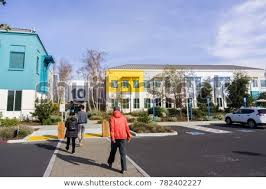 December 27 2017 Menlo Park  CA USA  Colorful Facebook Office Buildings Located