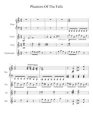 phantom of the opera song sheet music gravity falls phantom of the opera mix wip sheet music for piano