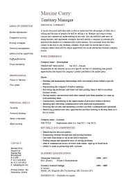 Resume Job Description Adorable Territory Manager Resume Regional Job Description Sample Example