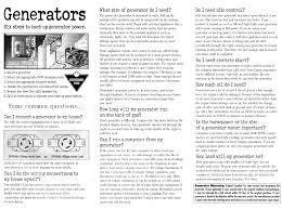 home generator installation generators wattage chart