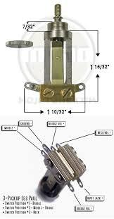 guitar parts upgrades switchcraft straight type 3way toggle switch 3pu