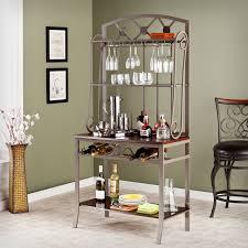 decorative bakers rack with wine storage
