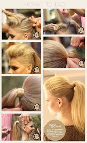 sleek ponytail with bouffant top