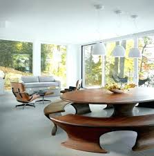 round bench seating. Contemporary Bench Bench Dining Table Round Seating With  On 2