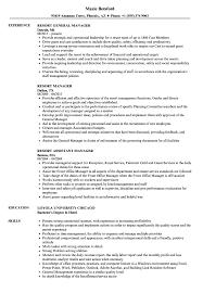 Resume Format For Hotel Job Resort Manager Resume Samples Velvet Jobs 95