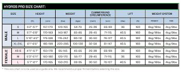 Scubapro Hydros Pro Size Chart Scubapro Hydros Pro Bcd Mens