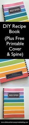 diy recipe book notebook al organization rainbow color coded editable recipe template card pdf recipe sheet