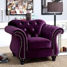 purple living room furniture. Furniture Of America Dessie Traditional Tufted Arm Chair (Plum (Purple)) (Acrylic) Purple Living Room M