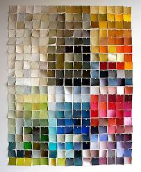 View in gallery Paint chip wall art