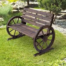 outsunny wooden cart wagon wheel 2