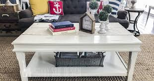 chalk paint coffee table makeover chalk
