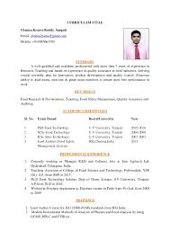 My simple resume for Food Industry, Food Safety and Quality Assurance Jobs.  CURRICULAM VITAE Chenna Kesava Reddy. Sangati Email: chenna2nalas@gmail.com  ...