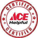 ace hardware logo. meyer ace hardware certified helpful logo